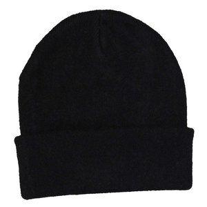 NWT Goodfellow Cuffed Knit Beanie Hat Black